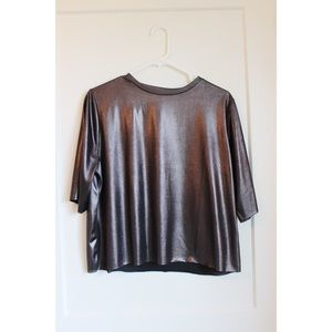 Topshop Metallic Top